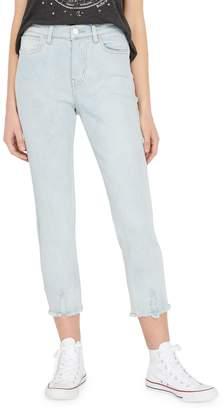 Buffalo David Bitton Riley High-Rise Straight Cropped Jeans