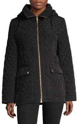 London Fog Quilted Full-Zip Jacket
