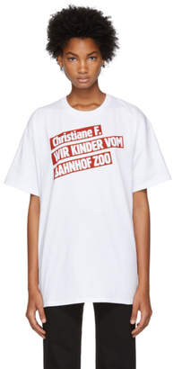 Raf Simons White Christiane F. Kinder Bahnhof Zoo T-Shirt