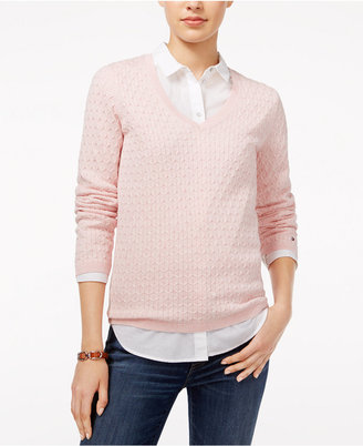 Tommy Hilfiger Ivy Cable-Knit Sweater, Only at Macy's $59.50 thestylecure.com