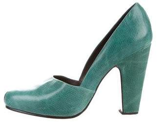 Rachel Comey Embossed Round-Toe Pumps