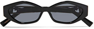 Le Specs Jordan Askill Petit Panthère Cat-eye Acetate And Gold-tone Sunglasses - Black
