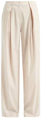 WtR - Sofia Wide Leg Wool Trousers Champagne