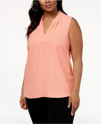 Calvin Klein Plus Size Crinkle Top