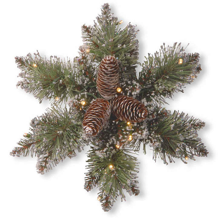 NATIONAL TREE CO National Tree Co. Glittery Bristle Pine Holiday Yard Art