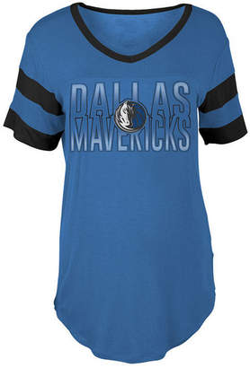 5th & Ocean Women's Dallas Mavericks Hang Time Glitter T-Shirt
