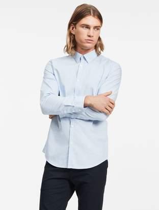Calvin Klein Slim fit blue block check non iron shirt