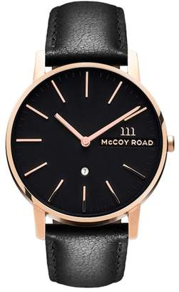 McCoy Road Watches Unisex Leather Strap Watch, 40mm