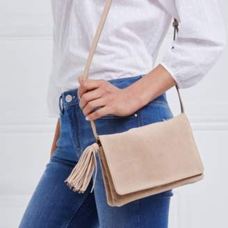 The White Company Suede Organiser Tassel Bag