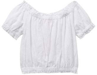 Design History Short Sleeve Crop Top (Big Girls)
