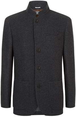 Brunello Cucinelli Stand Collar Cashmere Coat