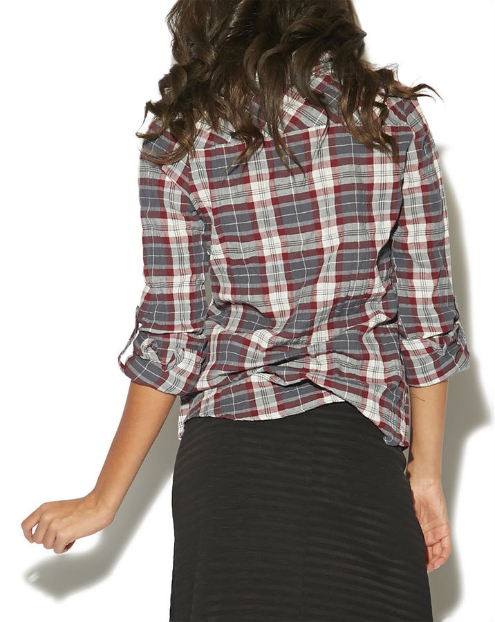 Wet Seal Flannel Burnout Shirt