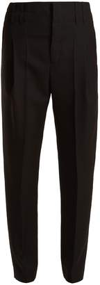 High-rise wool trousers