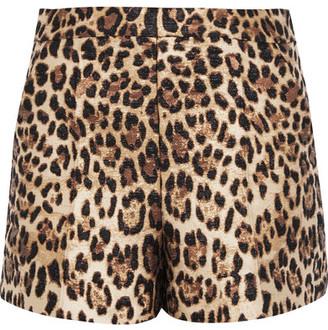 REDValentino - Leopard-jacquard Shorts - Leopard print $475 thestylecure.com