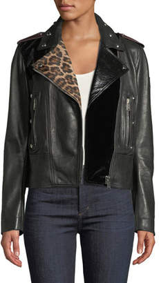 Belstaff Mosaic Marving-T Mixed-Media Leather Jacket