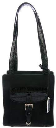 Ralph Lauren Embossed Leather-Trimmed Tote