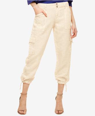 Sanctuary Linen Cropped Cargo Pants $99 thestylecure.com