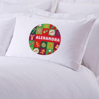 "Monogram Online Custom Kids Gingerbread Man Christmas Pillow Case, 20"" x 30"""