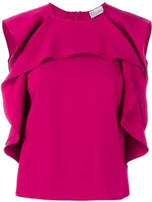RED Valentino sleeveless ruffled top