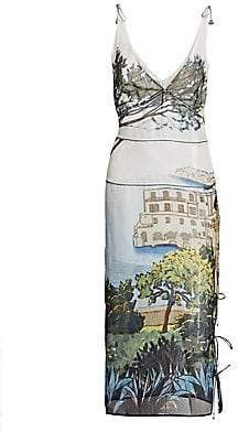 Altuzarra Women's Silk Tuscany Print Dress