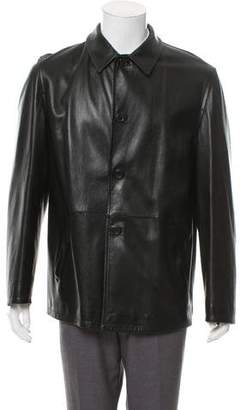 Prada Collared Leather Jacket