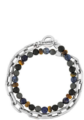 Andrea D'Amico chain stone embellished bracelet