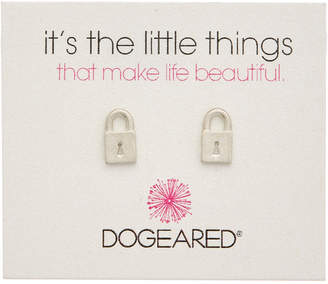 Dogeared It's The Little Things Locket 14K Over Silver Earrings