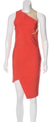 Thierry Mugler Colorblock Midi Dress