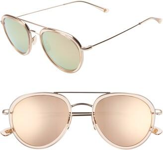 Salt Lynch 52mm Polarized Mirrored Aviator Sunglasses