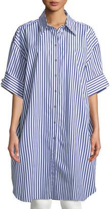 Marques Almeida Marques'Almeida XXL Striped Short-Sleeve Shirt