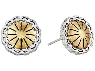 The Sak Concho Metal Stud Earrings