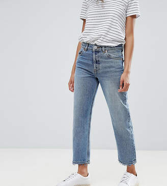 Asos DESIGN Petite Recycled Florence authentic straight leg jeans in spring light stone wash