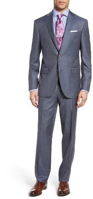 Men's David Donahue Ryan Classic Fit Windowpane Wool Suit $895 thestylecure.com