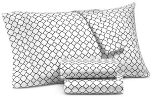 Charter Club Damask Designs Printed Geo Extra Deep Queen 4-pc Sheet Set, 500 Thread Count, Created for Macy's Bedding