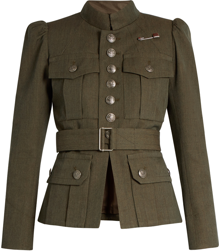 Marc Jacobs MARC JACOBS Button-down military wool jacket