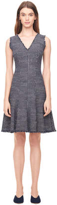 Rebecca Taylor Multi Tweed V-Neck Dress