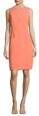 BOSS Demisana Ponte Sheath Dress $545 thestylecure.com