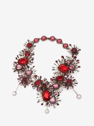 Alexander McQueen Jeweled Rose Choker