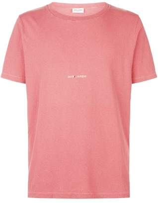 Saint Laurent Distressed Logo T-Shirt