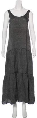 Lisa Marie Fernandez Sleeveless Ruffled Maxi Dress