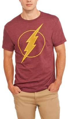 Super Heroes & Villains DC Comics Big Men's Flash Logo Poly T-shirt