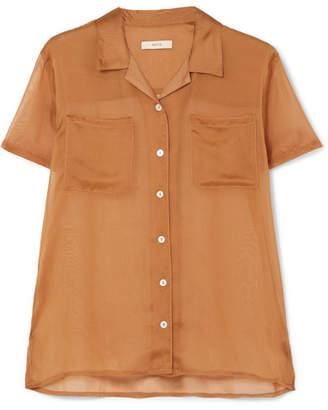MATIN - Silk-organza Shirt - Tan