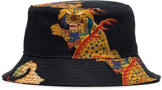 Kirin denim Haetae-print hat