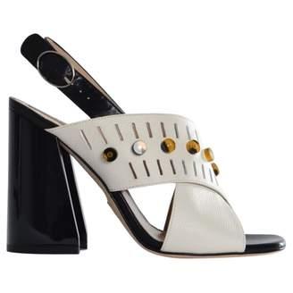 Paula Cademartori White Leather Sandals