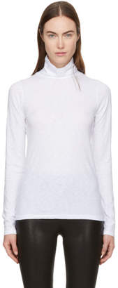 Rag & Bone White Long Sleeve The Turtleneck T-Shirt