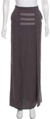 Kimberly Ovitz Pleated Maxi Skirt