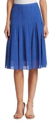 Akris Punto Pleated Polka Dot Skirt
