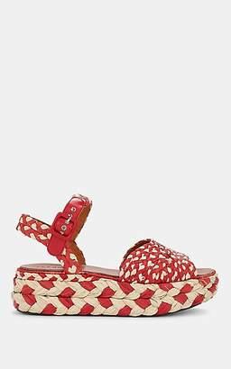Clergerie Women's Artemis Raffia Platform Sandals - Red