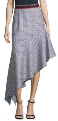 Milly Charlotte Asymmetrical Wool Skirt