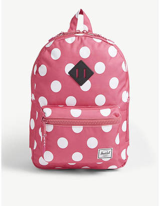 Herschel Heritage Youth polka-dot canvas backpack